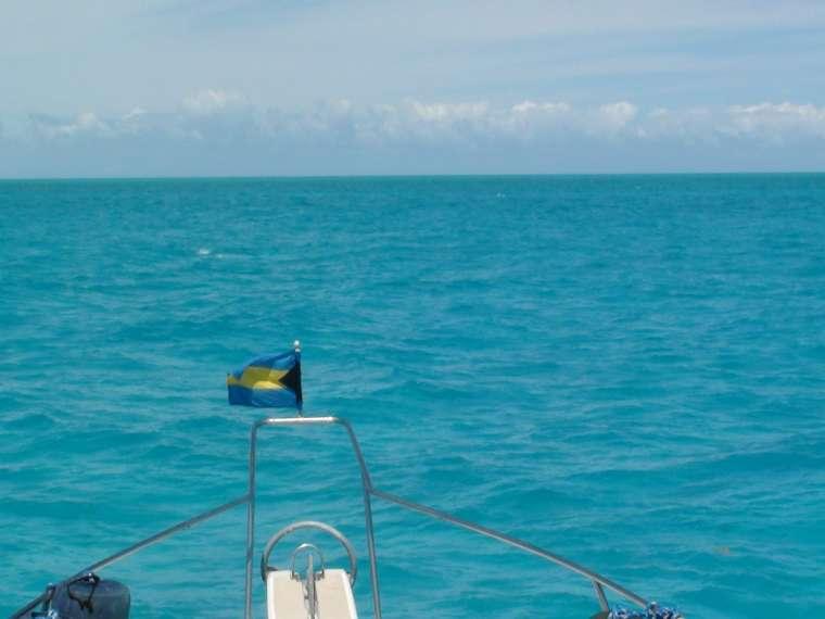 Heading to Nassau - windy with choppy sea