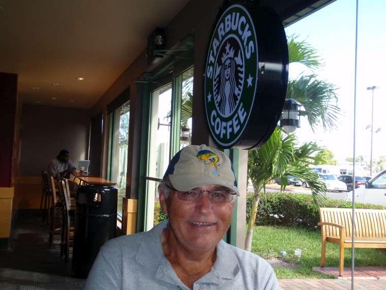 Coffee at Starbucks at Marathom Mall, Nassau