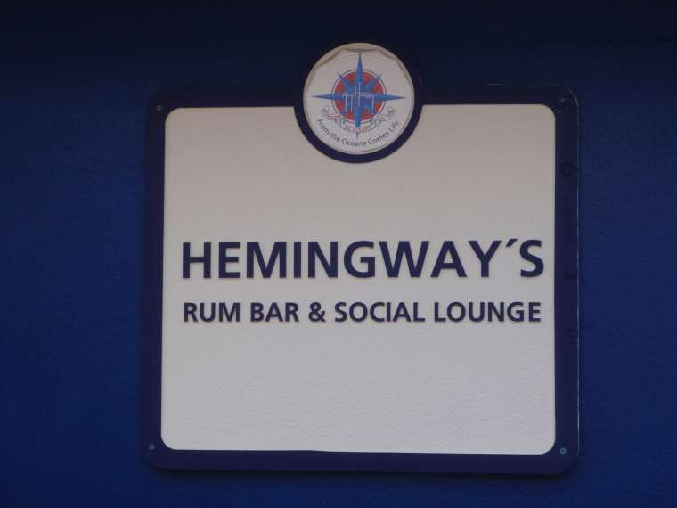 Hemingway was a major player in the sport of game fishing here in Bimini