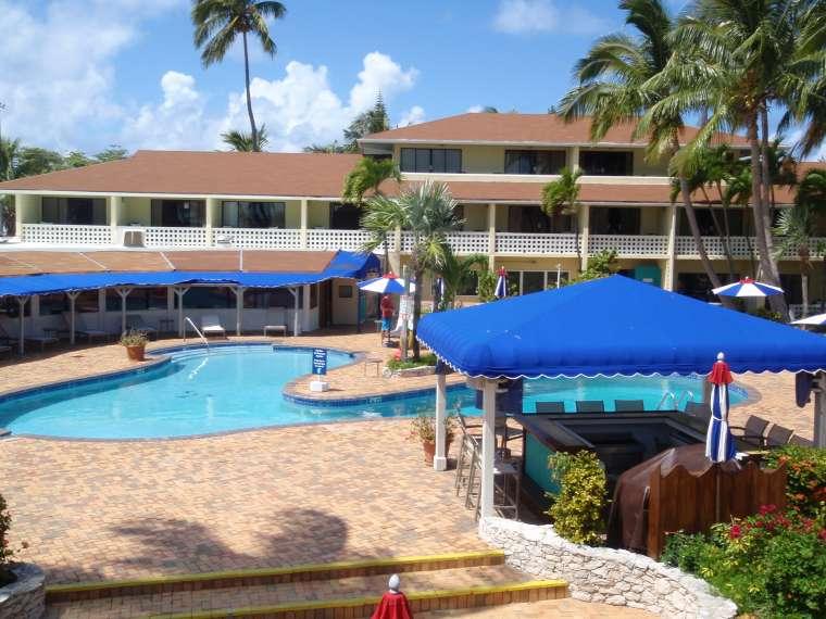 Pool area at the Bimini Game Club