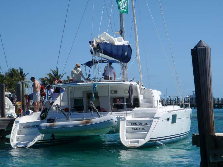 One of the party boats leaving yesterday