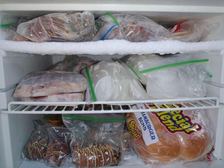Freezer full of lobster