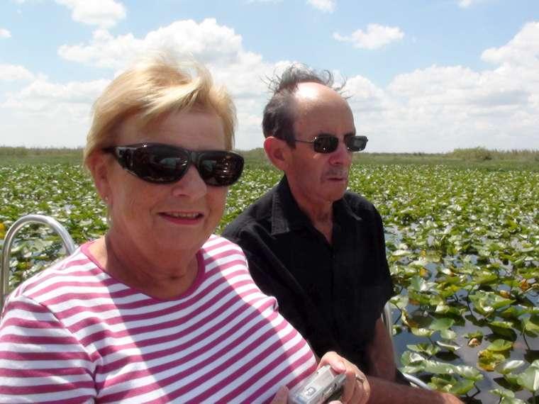 Estelle & Alastair enjoying the boat ride