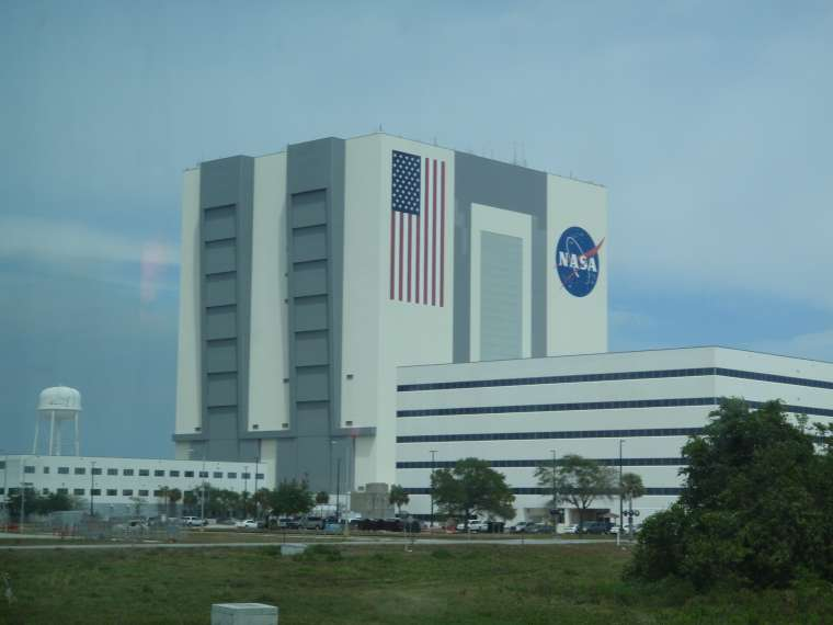 The vehicle assembly plant at KSC - it is HUGE!