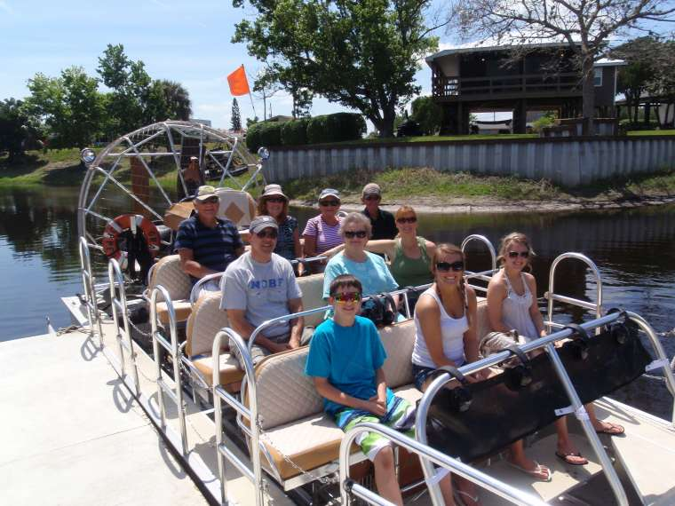 All set for our air boat ride