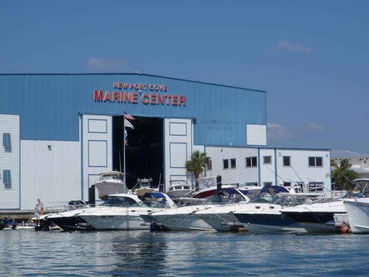 New Port Cove Marina - where we're currently moored